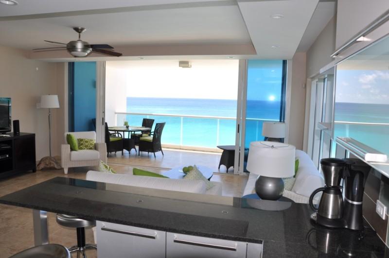 modern kitchen in condo 501 of Ocean One Vacation Rentals