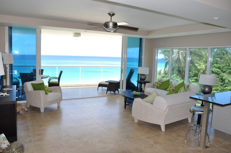 villa 501 living space with ocean view