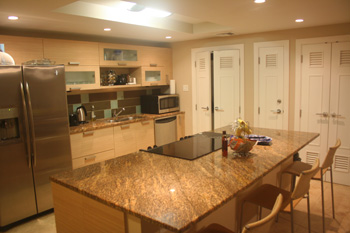 fully equipped modern kitchen of this self catering villa